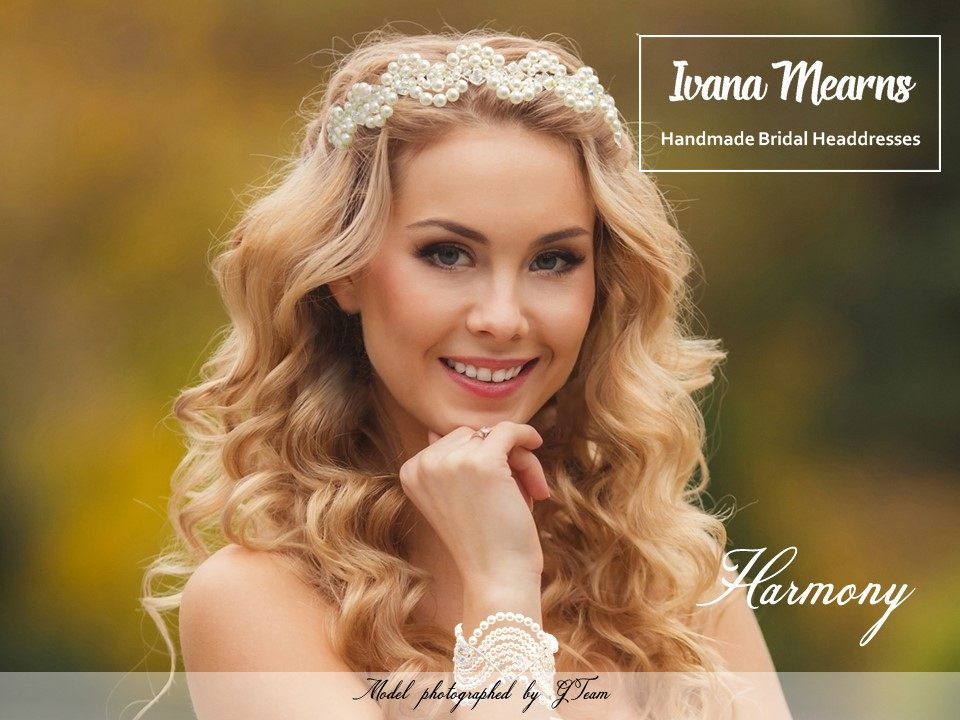 Designer Bridal Headpiece by Ivana Mearns